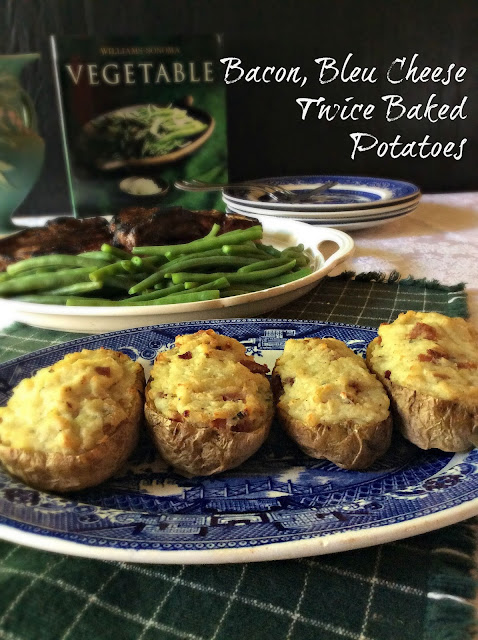 Cooking On A Budget: Bacon, Bleu Cheese Twice Baked Potatoes