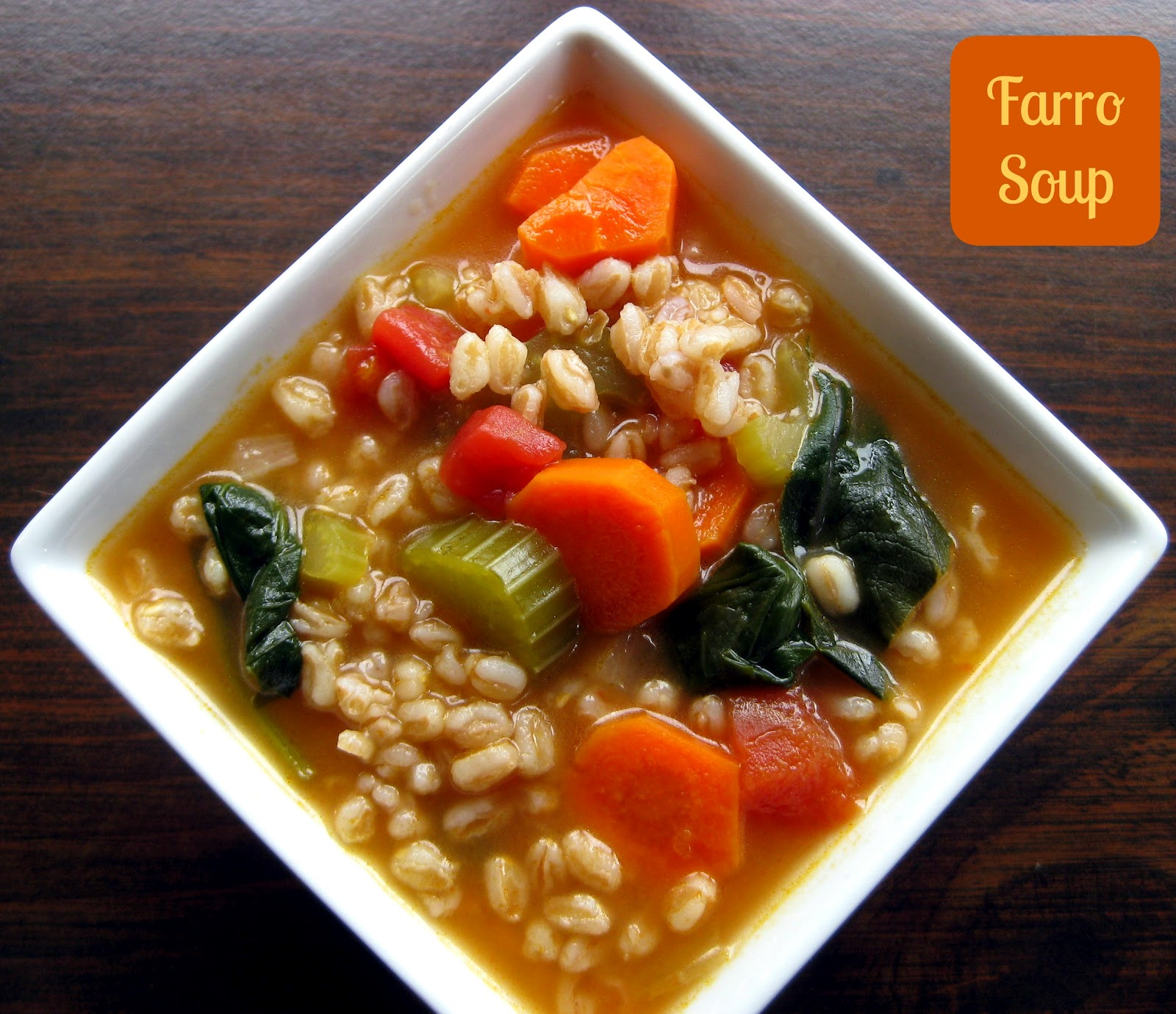 Karis' Kitchen | A Vegetarian Food Blog: Farro Soup