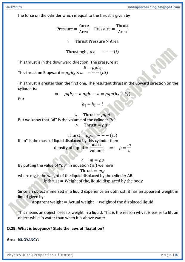 properties-of-mater-question-answers-physics-10th