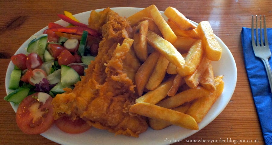Fish & Chips - The Coastguard Pub, Kent, UK