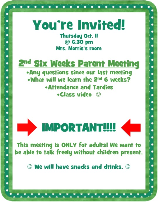 Good Parent Meeting Invite Template Party Invitations Ideas