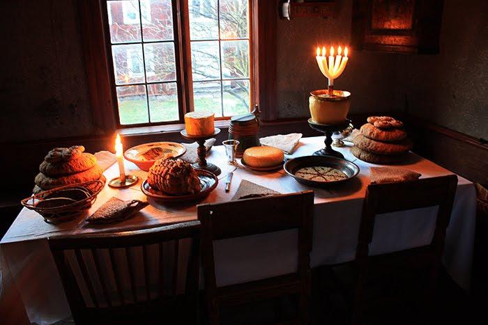 Un pranzo di Natale a Stoccolma, nel secolo scorso. Skansen.