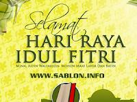 Sablon Info Mengucapkan Selamat Hari Raya Idul Fitri (1 Syawal 1436 H)