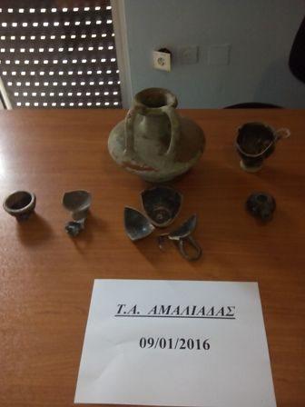 Συνελήφθη 63χρονος αρχαιοκάπηλος στην Αμαλιάδα