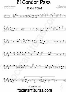 Partitura de para Saxofón Alto y Sax Barítono by Sheet Music for Alto and Baritone Saxophone Music Scores
