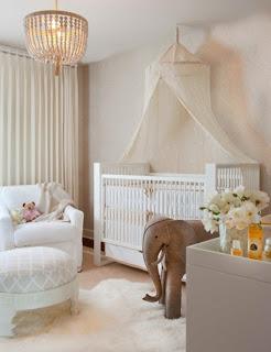 Habitación de bebé color tierra