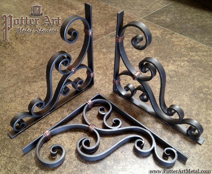 Potter Art Metal Studios Wrought Iron Corbels
