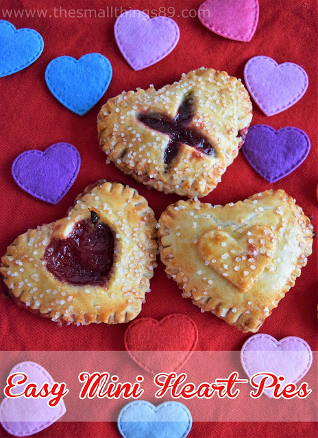 Easy Mini Heart Shaped Pies