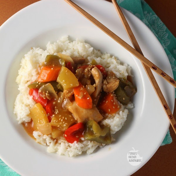 Slow Cooker Sweet and Sour Chicken: Tender chicken thighs and veggies ...