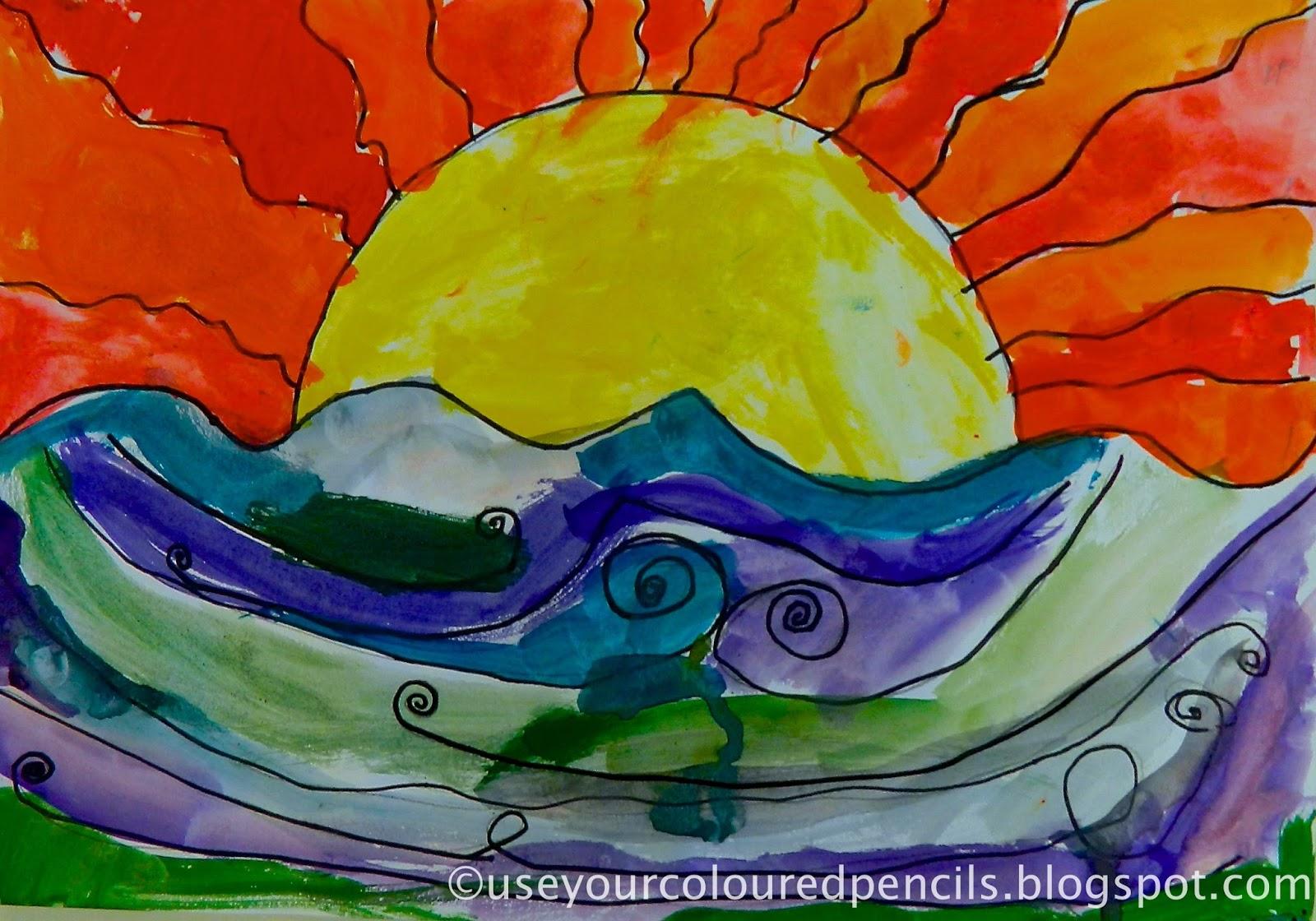 Use Your Coloured Pencils: Warm Sky, Cool Sea