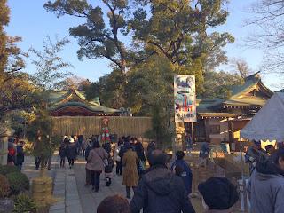 久伊豆神社の初もうで