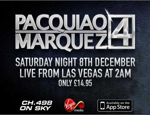 Juan Manuel Marquez vs Manny Pacquiao 4 Sky Sports Primetime UK Live PPV TV Boxing