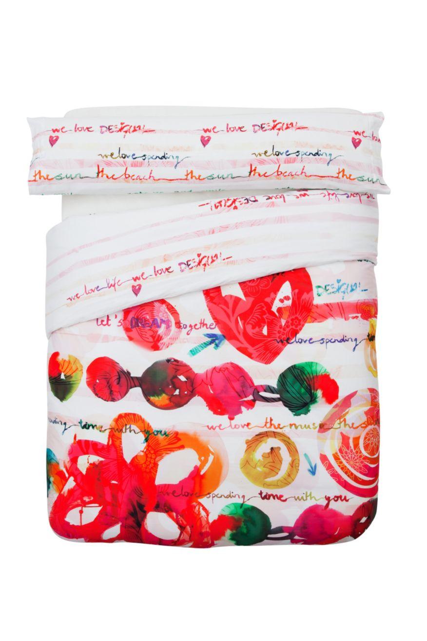 Funda Nórdica Reversible Love Party DESIGUAL | DESIGUAL ONLINE