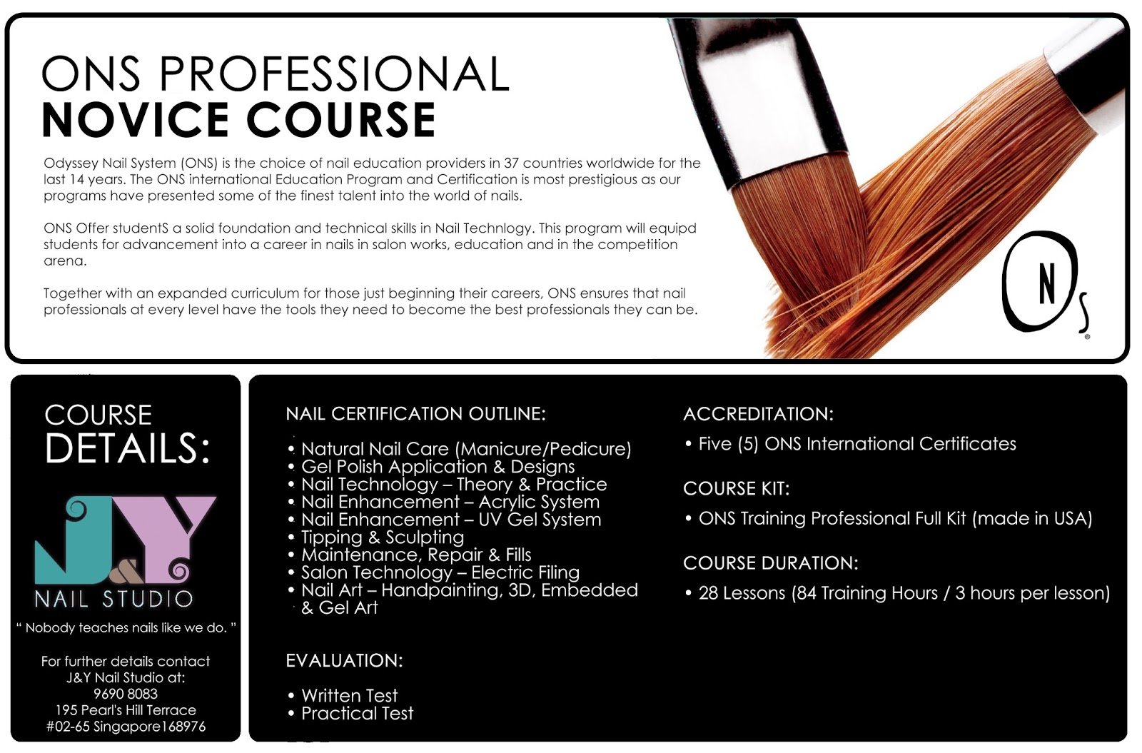J Nail Studio Ons Professional Full Course For Novice