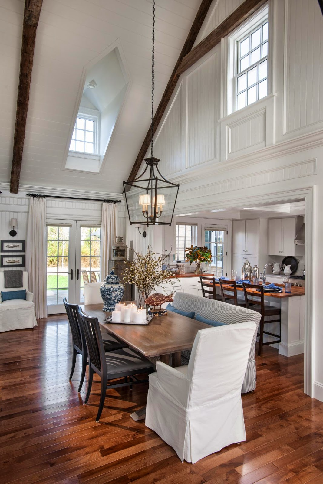 the way they did the dormer windows in the vaulted ceiling is one of my favorite features - Gray Home 2015