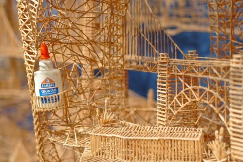 Toothpick Sculptures Seen On www.coolpicturegallery.us