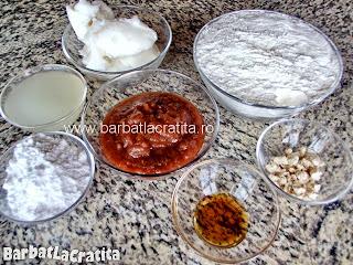Cornulete cu gem ingrediente reteta