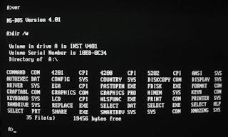Tampilan Layar DOS