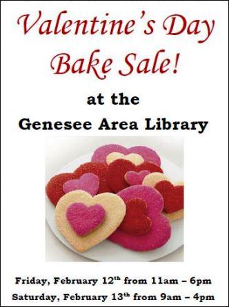 2-12/13 Valentine's Bake Sale