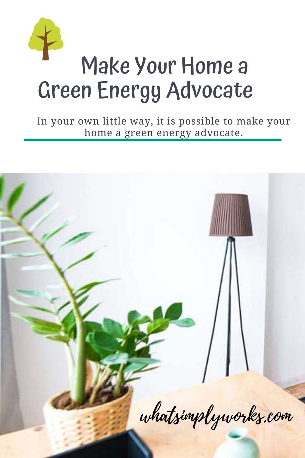 You don't have to be part of an institution or a group of green advocates just to go green. You can do it in your own little way, it is possible to make your home a green energy advocate.