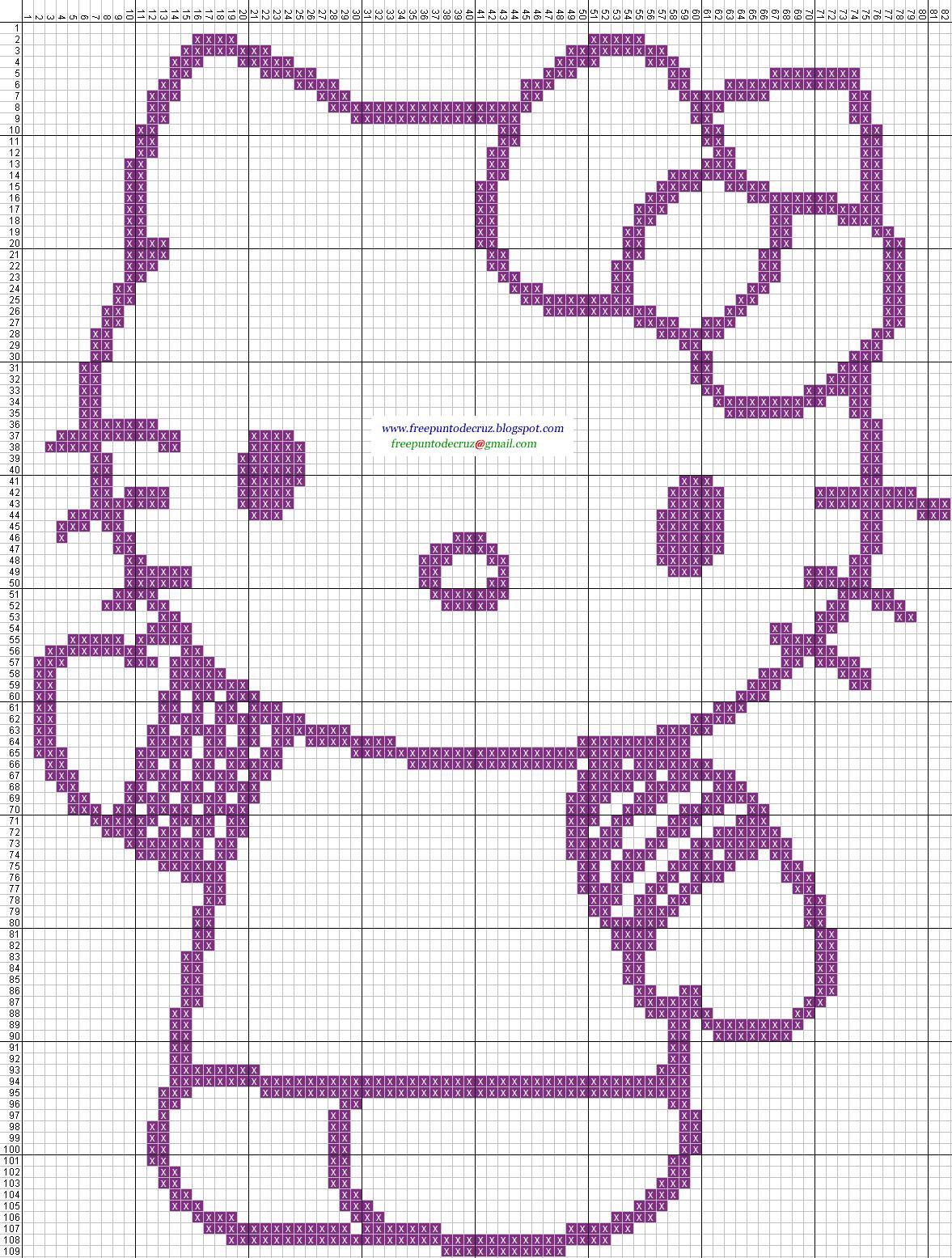 Dibujos Punto de Cruz Gratis Hello Kitty  Cross Stitch Punto de cruz
