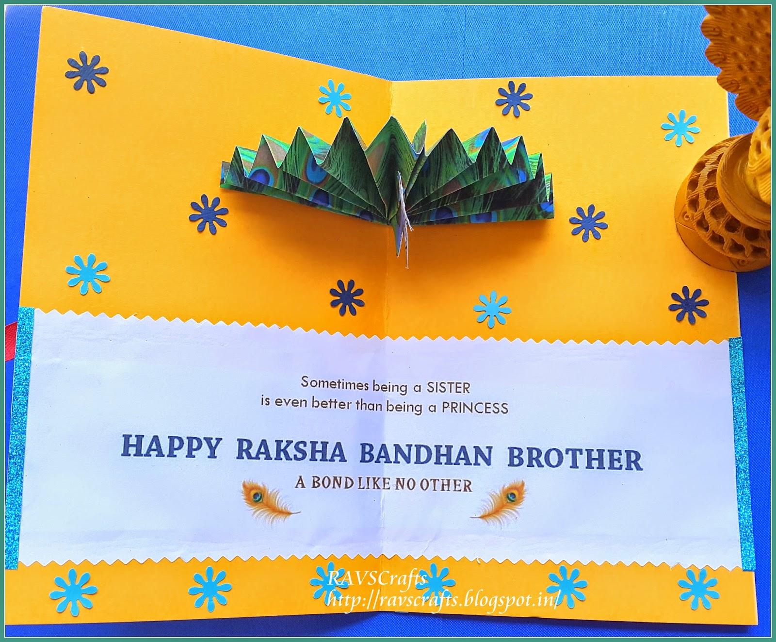 Amazing Card Making Ideas For Raksha Bandhan Part - 13: RAVSCrafts