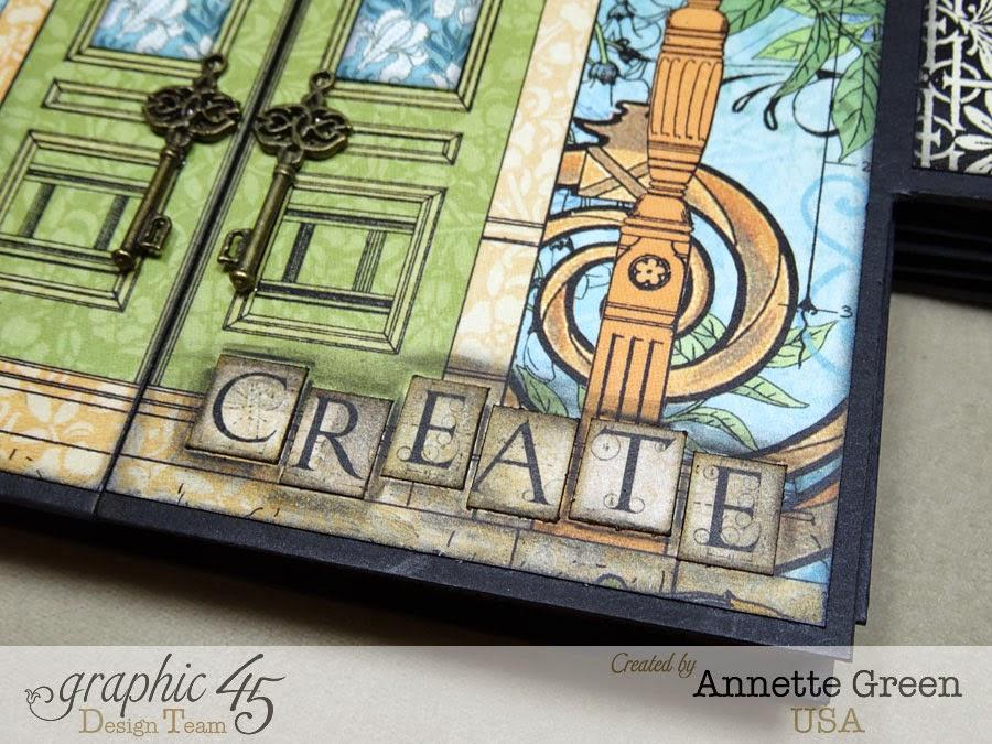 Annettes Creative Journey Artisan Style Gatefold Mini Album