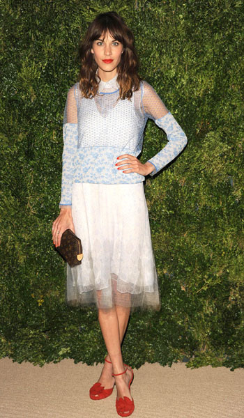 Alexa Chung Style Icon Vogue Fashion Fund Awards 2012