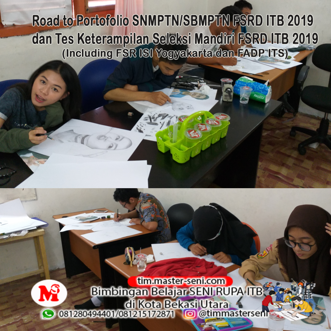 Program Intensif Portofolio SNMPTN/SBMPTN FSRD ITB 2019 dan Tes Keterampilan FSRD ITB 2019
