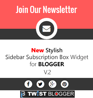 Stylish Sidebar Subscription Box Widget For Blogger