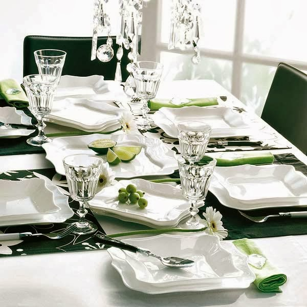christmas table decoration in green - Green Christmas Table Decorations