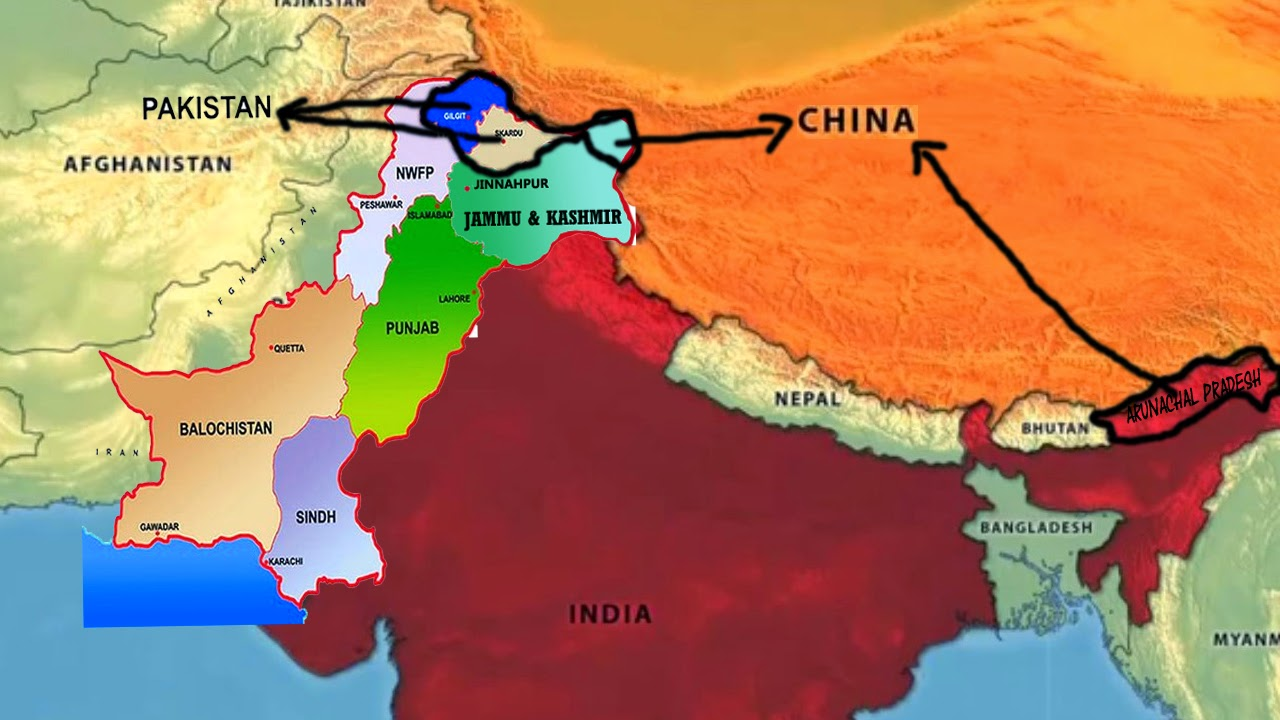 Ytdai august 2013 world map and india map china and pakistan occupying our land gumiabroncs Image collections
