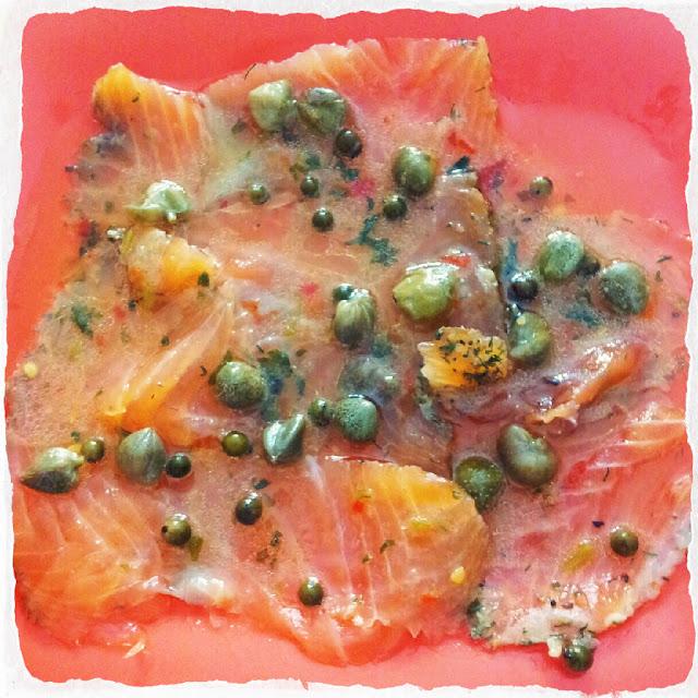Recetas 2 0 salmon marinado y una tapa the spanish food - Tapas con salmon ahumado ...