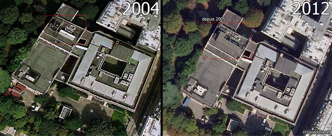 nsa le toit de l 39 ambassade am ricaine cacherait un centre d 39 coutes sous une b che. Black Bedroom Furniture Sets. Home Design Ideas