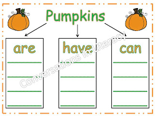 Pumpkins Are, Have, Can