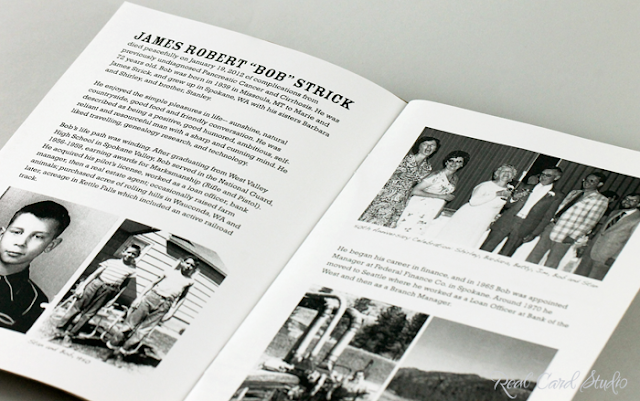 Memorial service program booklet