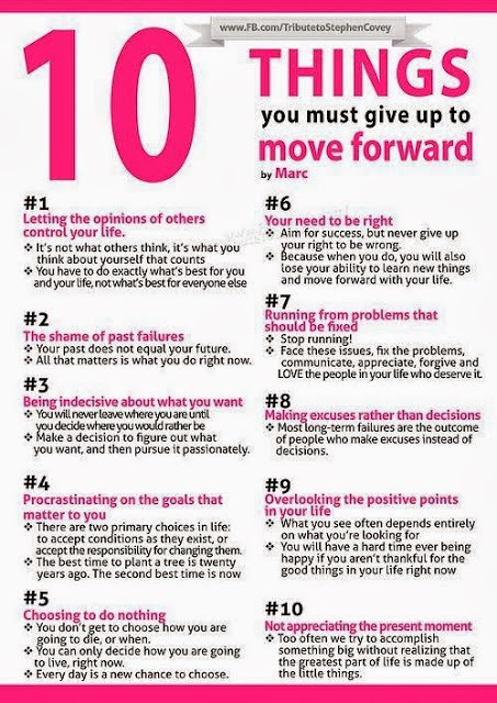 Moving Forward: 10 Things You Must Give Up