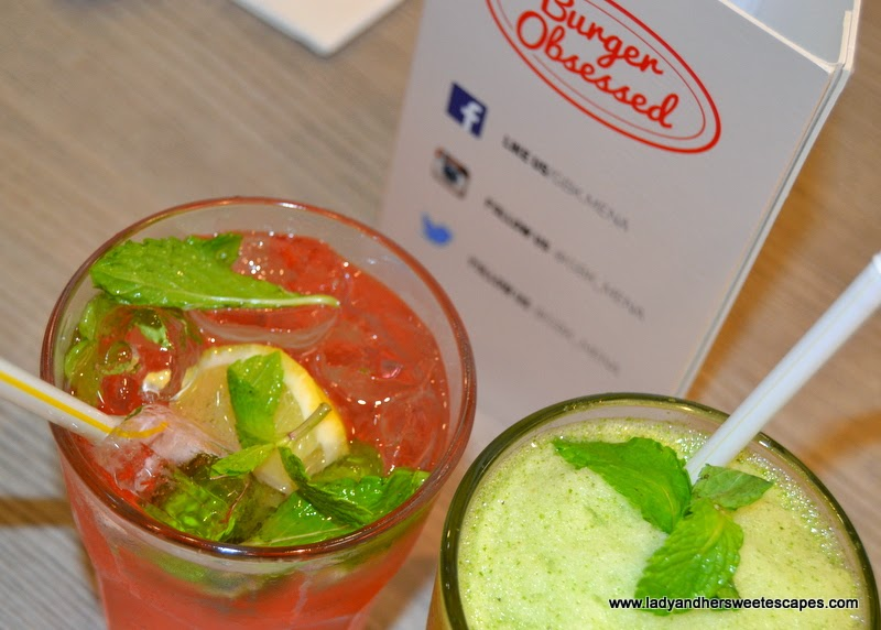 drinks at Gourmet Burger Kitchen Dubai