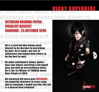 Foto Profil Biodata Vicky Superkidz FOTO PERSONEL ANAK SMP