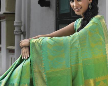 Kanchivaram sarees from Nalli silks.