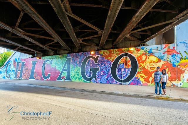 Chicago Graffiti Engagement Photo