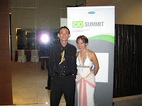 Jason Geh and singer at the CIO Summit