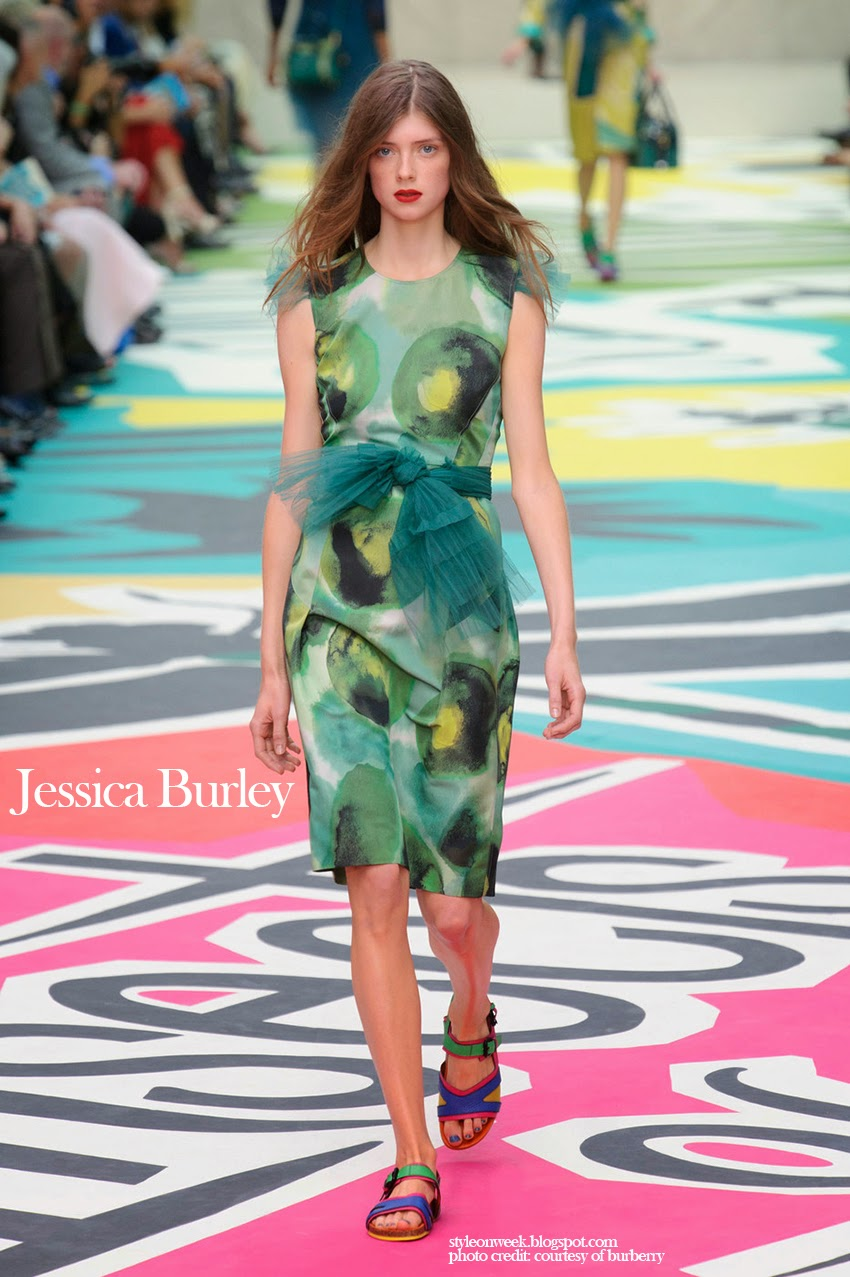 Jessica Burley at Burberry Prorsum Womenswear Spring-Summer 2015 Collection Look