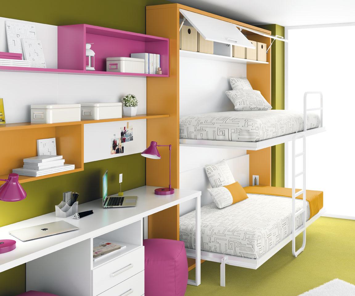 L nea de camas abatibles de ros camas abatibles - Literas dobles abatibles ...