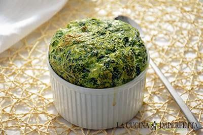 Soufflé agli spinaci