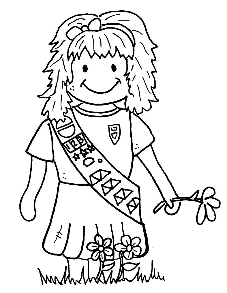 Brownie guide coloring pages for Brownie coloring pages printable