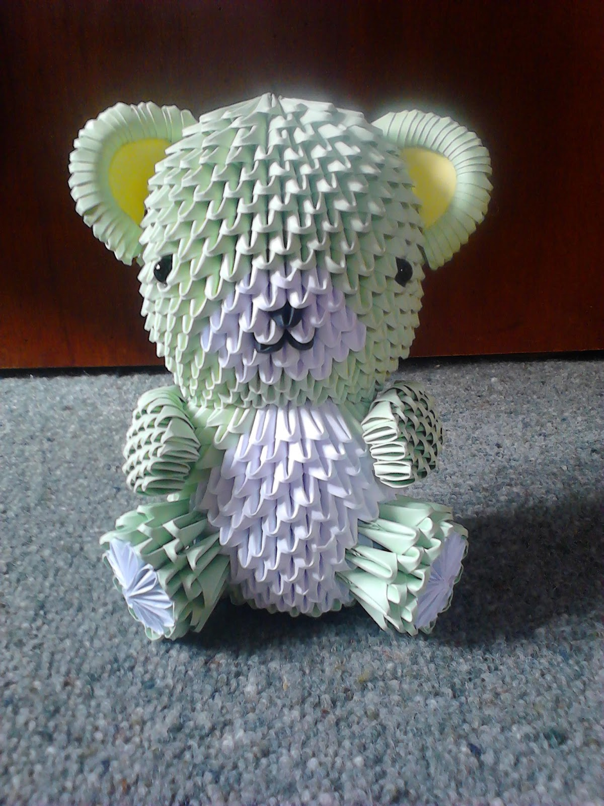 Jewellia Handicrafts 3d Origami Teddy Bear Variations How To Read A Diagram My Most Recent Bears Are The Quilted Ones I Wanted Make It Look Mix Matched And Use Cute Fun Colours Maybe Cos All Clothes See In Shops These