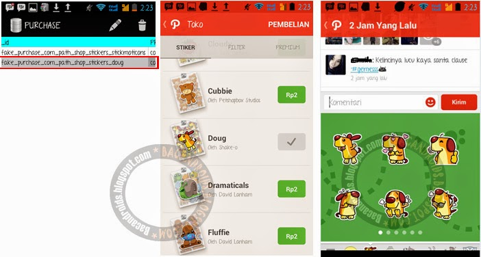 Tutorial hack free Sticker dan Filter Gratis di PATH