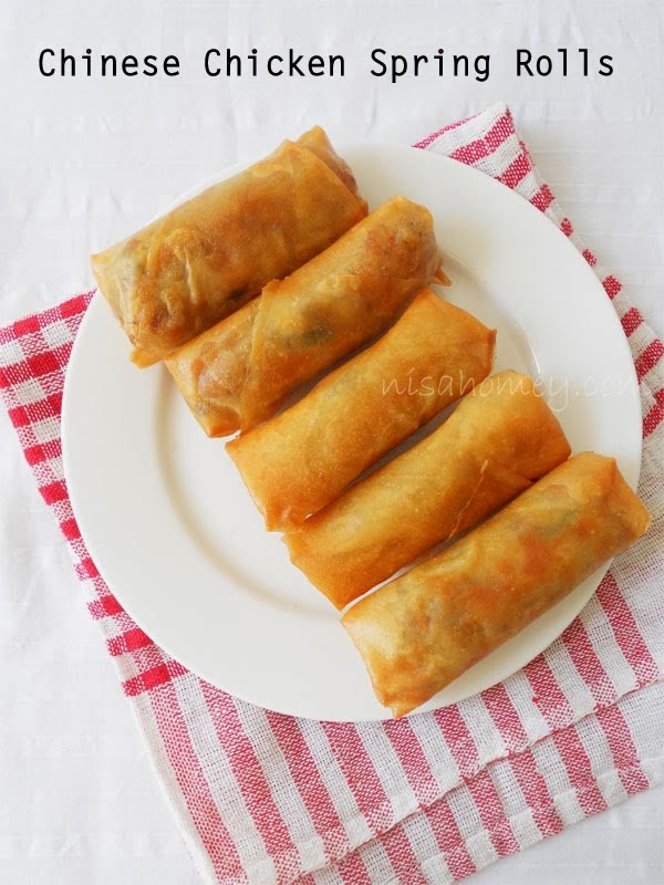 Chinese Spring Rolls with Chicken | Cooking Is Easy