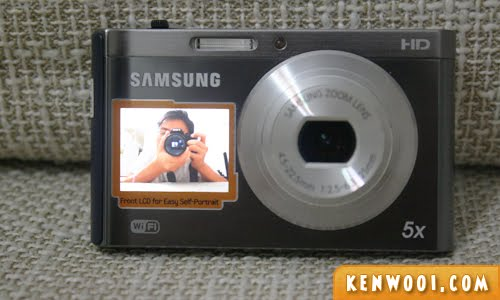 samsung dv300f front screen